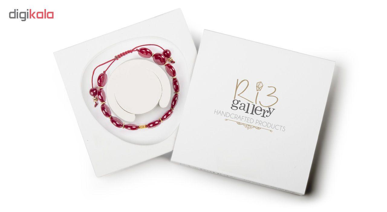 دستبند طلا 18 عیار زنانه ریسه گالری مدل Ri3-A1095-Gold
