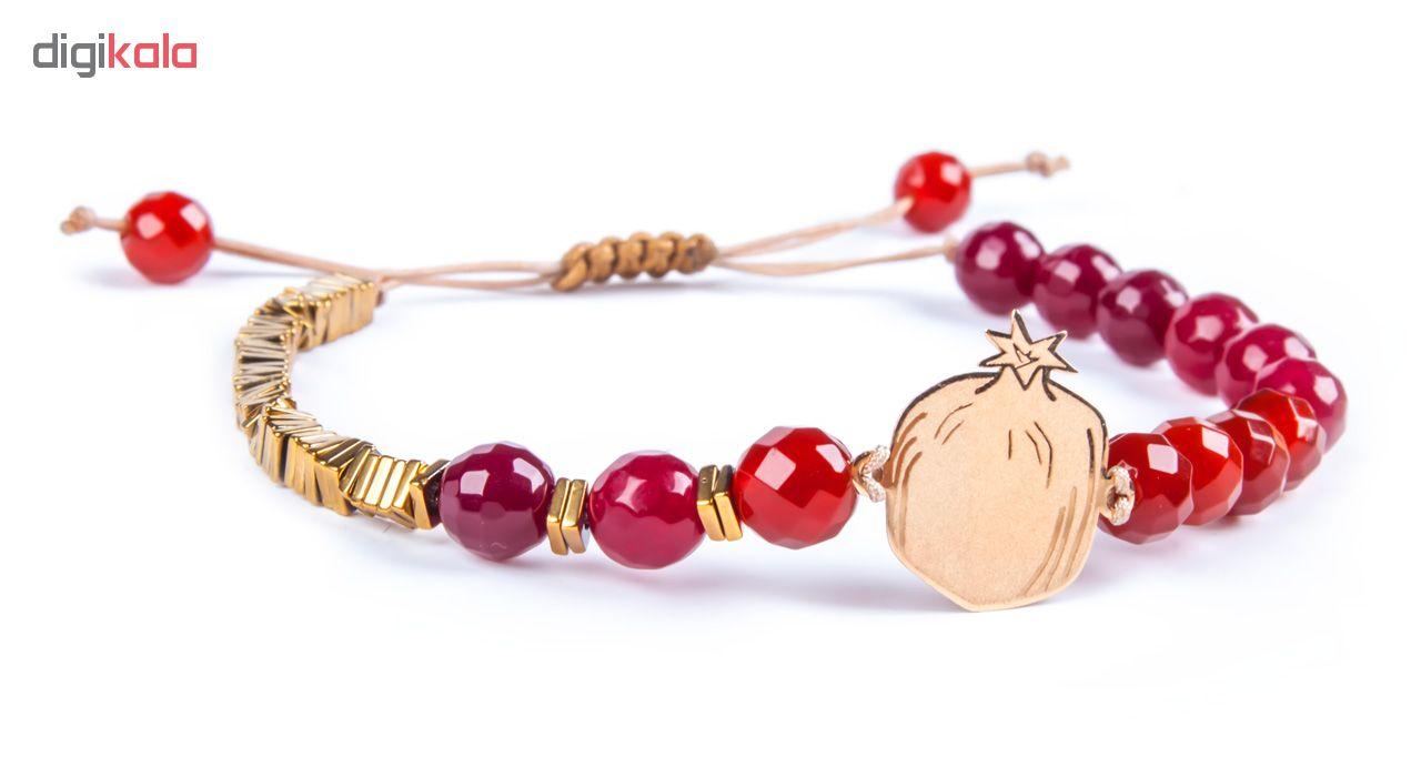 دستبند طلا 18 عیار زنانه ریسه گالری مدل Ri3-A1096-Gold