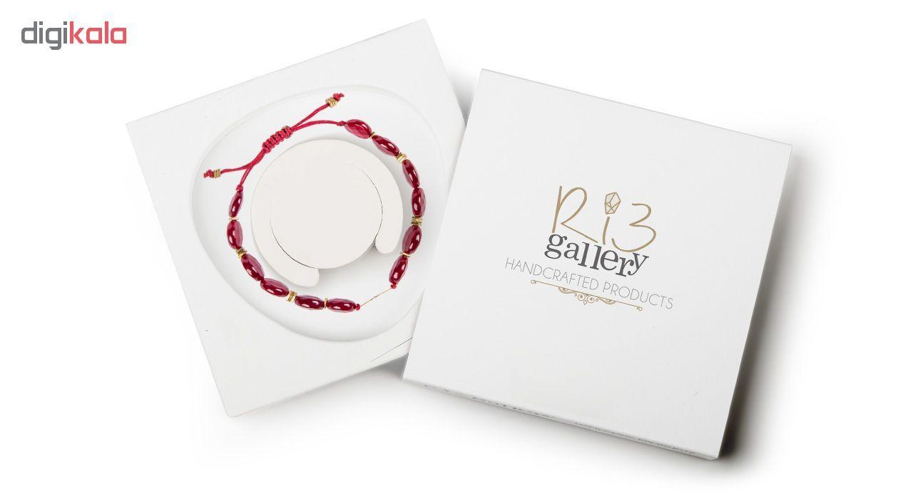 دستبند طلا 18 عیار زنانه ریسه گالری مدل Ri3-A1100-Gold -  - 11