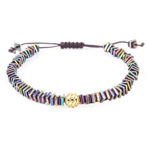 دستبند طلا 18 عیار زنانه ریسه گالری مدل Ri3-H1101-Gold