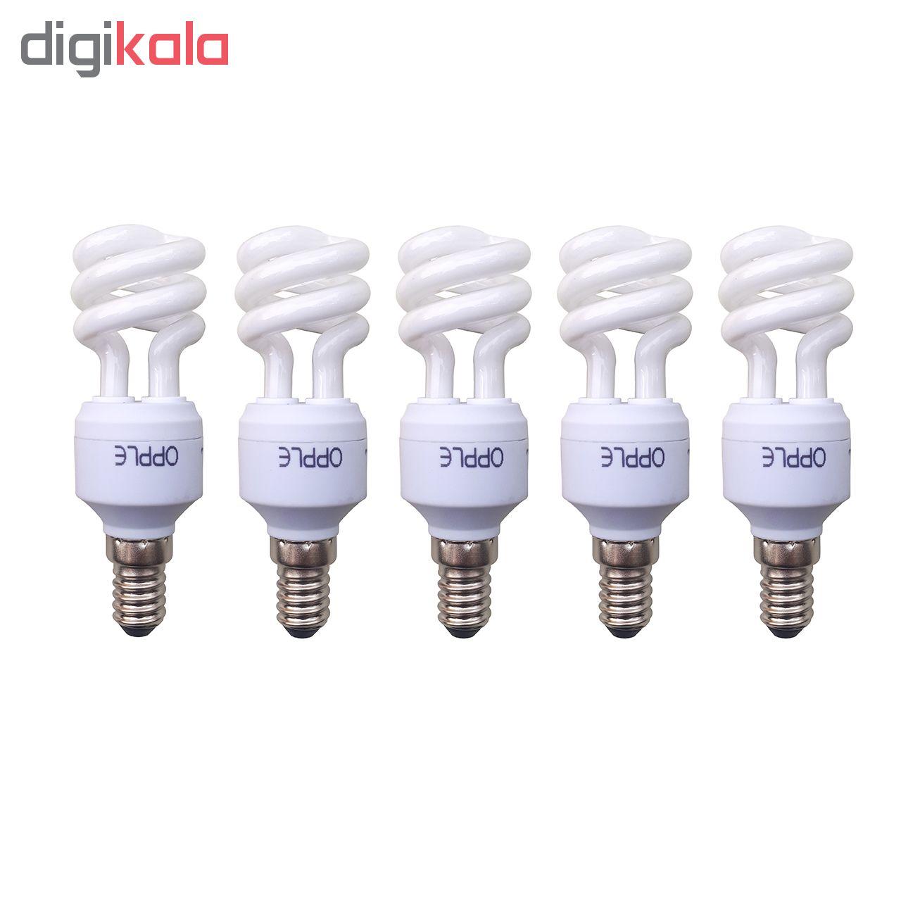 لامپ کم مصرف 8 وات اپل مدل 811 پایه E14 بسته ی 5 عددی