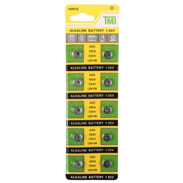 باتری ساعتی تی ام آی مدل AG3 LR41 392 بسته 10 عددی