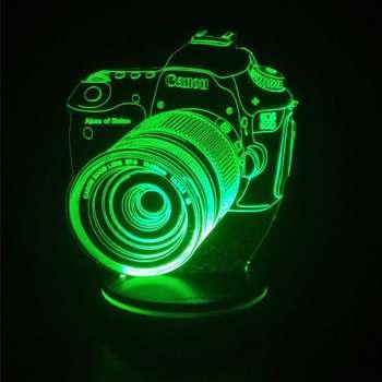 چراغ خواب پارسافن لیزر طرح دوربین عکاسی 16 رنگ ریموت دار