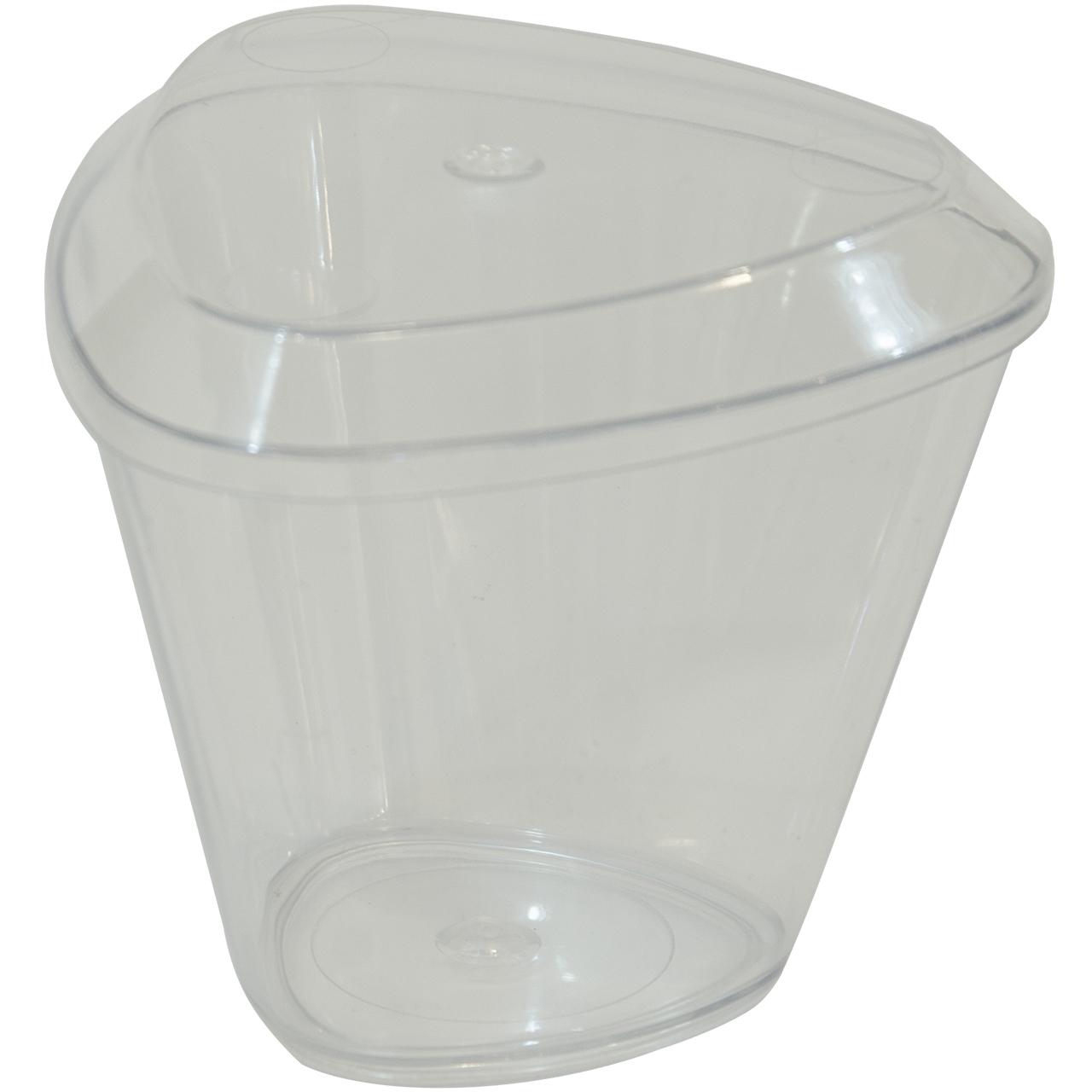 عکس ظرف دسر یکبار مصرف روشا پلاست مدل Crystal بسته 24 عددی