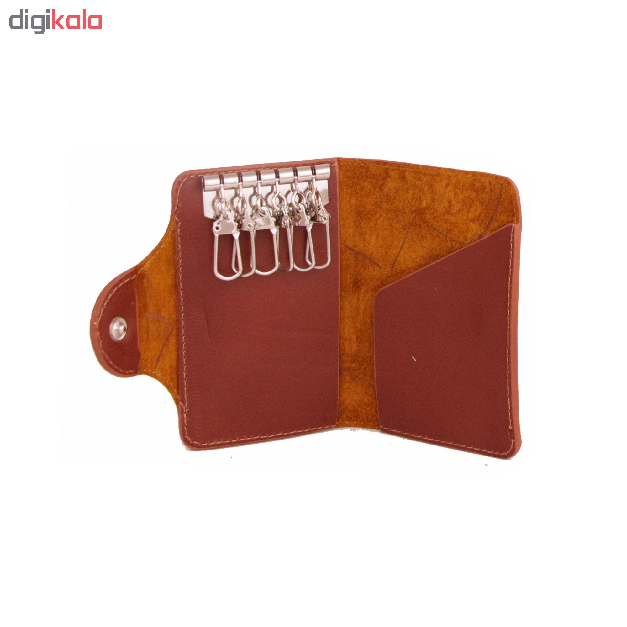 ست هدیه چرم طبیعی آدین چرم مدل DS40A