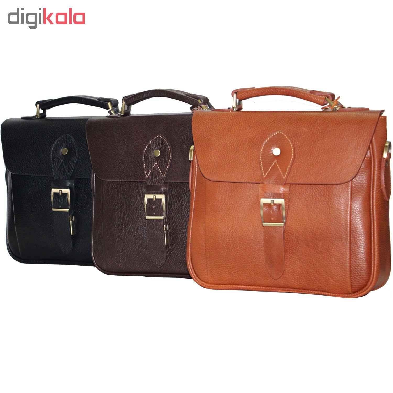 کیف دوشی چرم طبیعی آدین چرم مدل DG32.1
