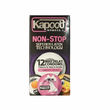 کاندوم تاخیری کاپوت مدل Non Stop بسته 12 عددی