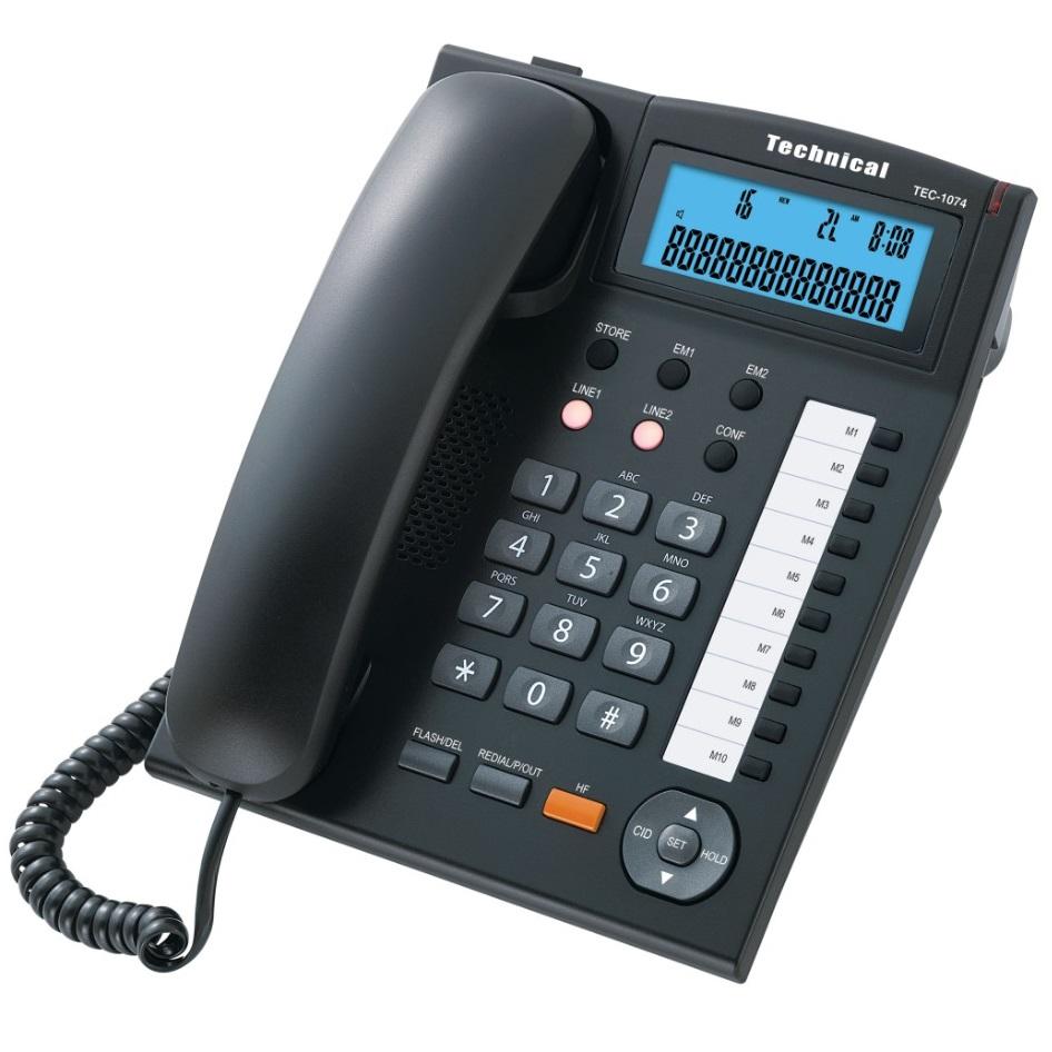 تلفن دو خط تکنیکال مدل TEC-1074