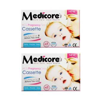 تست بارداری مدیکور مدل Cassette ۹۹.۸٪ بسته 2 عددی