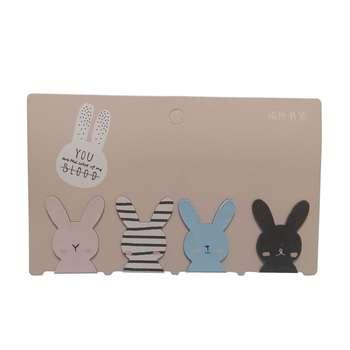 نشانگر کتاب طرح خرگوش بسته 4 عددی  