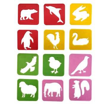 شابلون طرح حیوانات کد 1004 مجموعه 12عددی