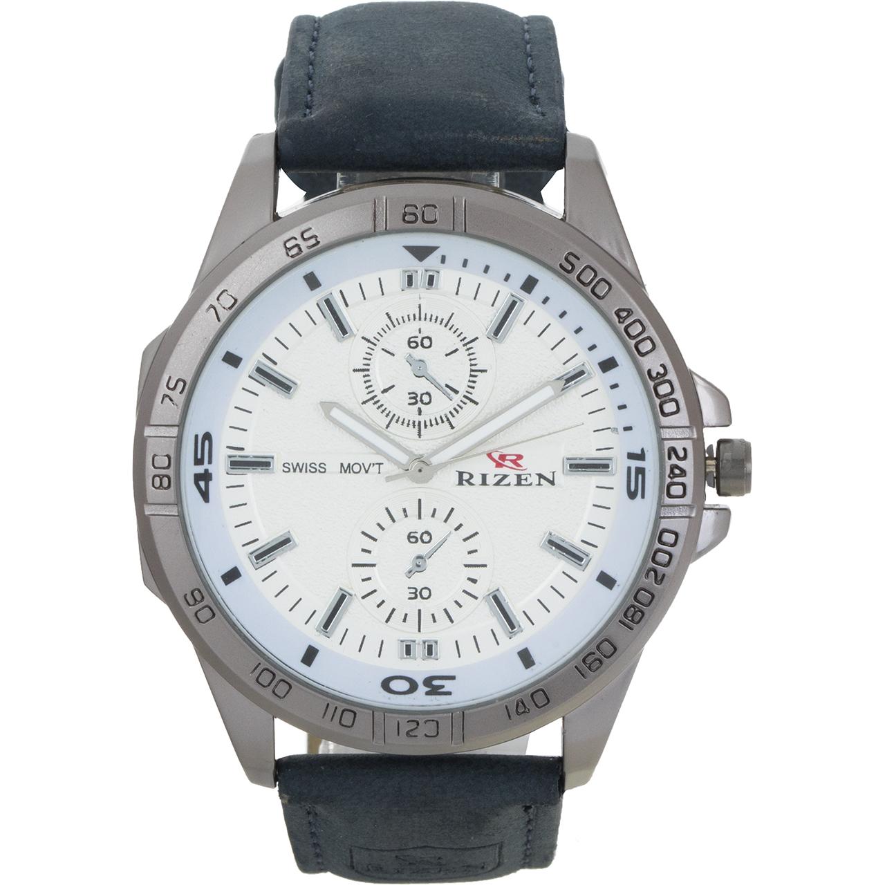 ساعت مچی عقربه ای مردانه ریزن مدل white-10