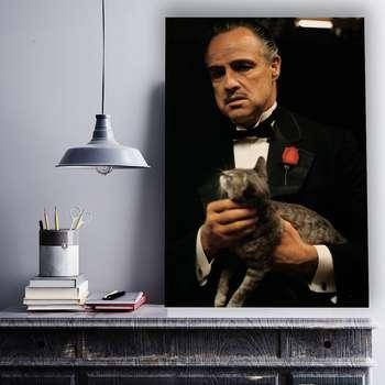 تابلو شاسی گالری استاربوی طرح مارلون براندو مدل فیلم The Godfather 01