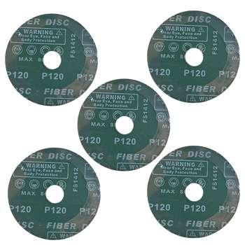 ورق سنباده دیسکی اورینت کرافت مدل P120 قطر 115 میلی متر بسته 5 عددی