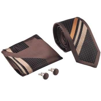 ست کراوات دستمال جیب و دکمه سردست مدل VATE-LUXURY2065 |