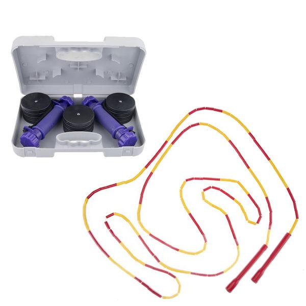دمبل ایروبیک تن زیب مدل Adjustable به همراه طناب ورزشی مدل Magic