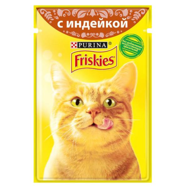 غذای پوچ گربه فریسکیز مدل Turkey وزن 85 گرم