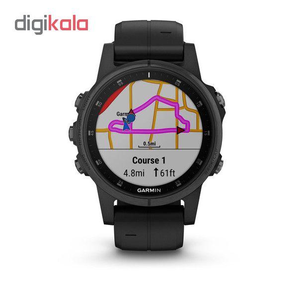 ساعت مچی هوشمند گارمین مدل fenix 5s plus black