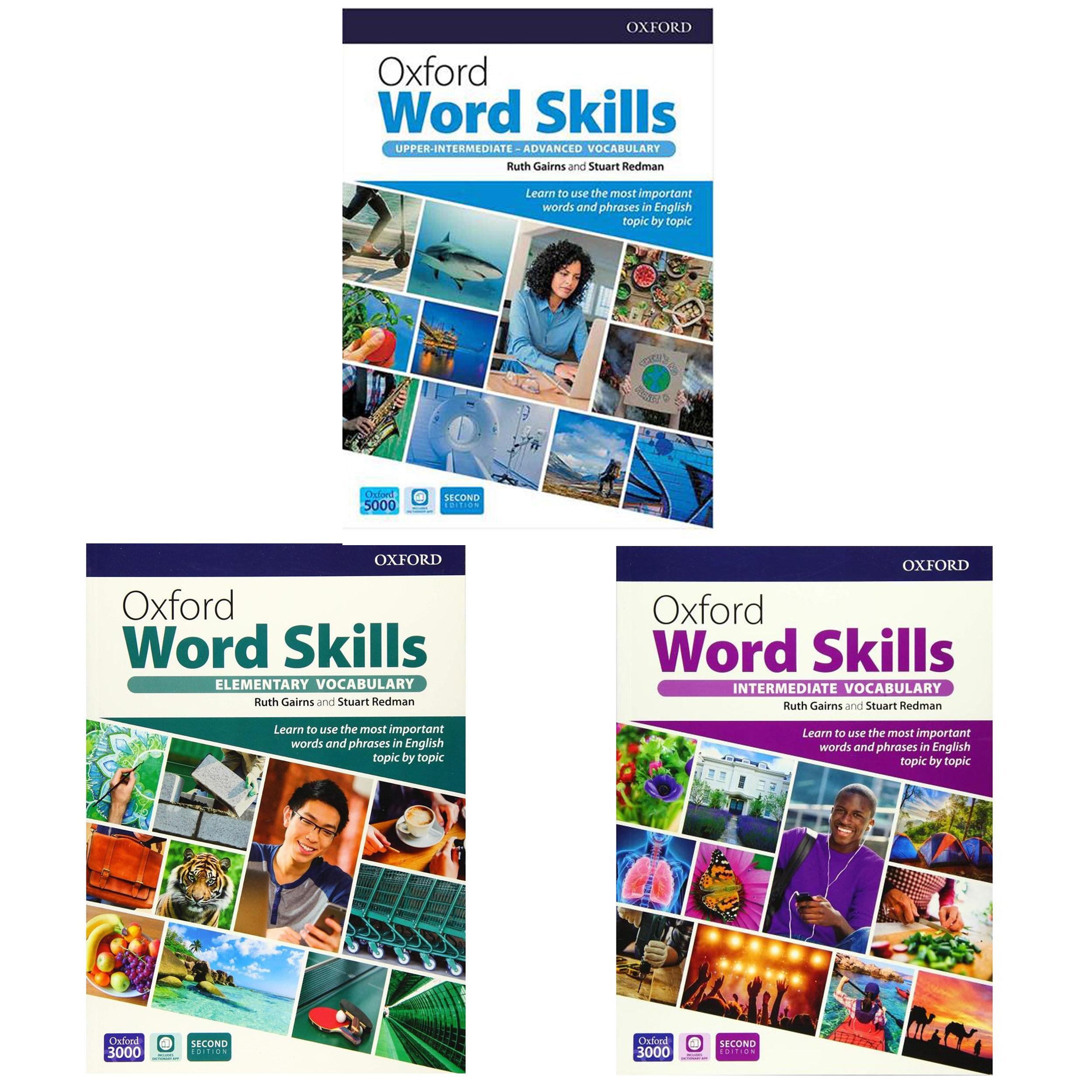 کتاب Oxford Word Skills Second Edition اثر Ruth Gairns And Stuart Redman انتشارات Oxford  سه جلدی