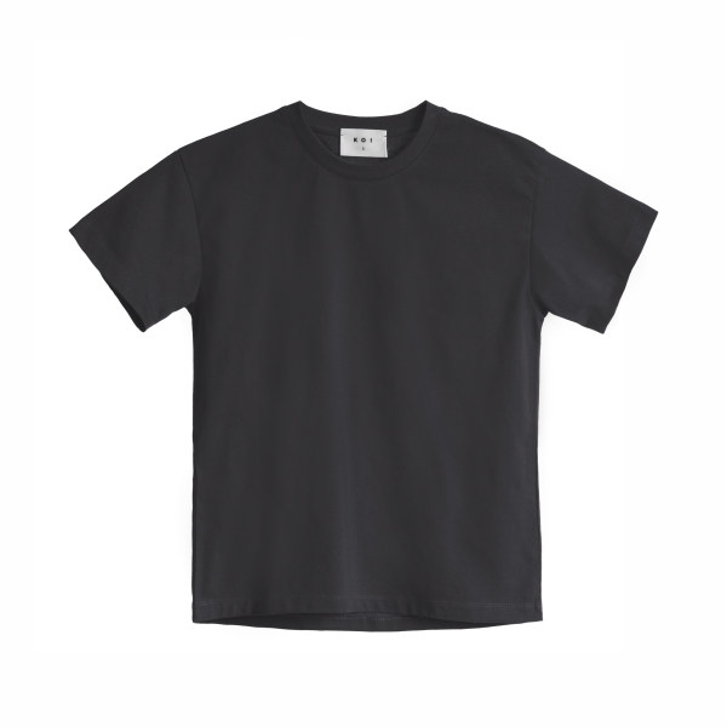 تی شرت آستین کوتاه زنانه کوی مدل هی گرل رنگ زغالی