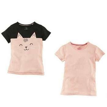 تی شرت آستین کوتاه دخترانه لوپیلو مدل jan مجموعه دو عددی