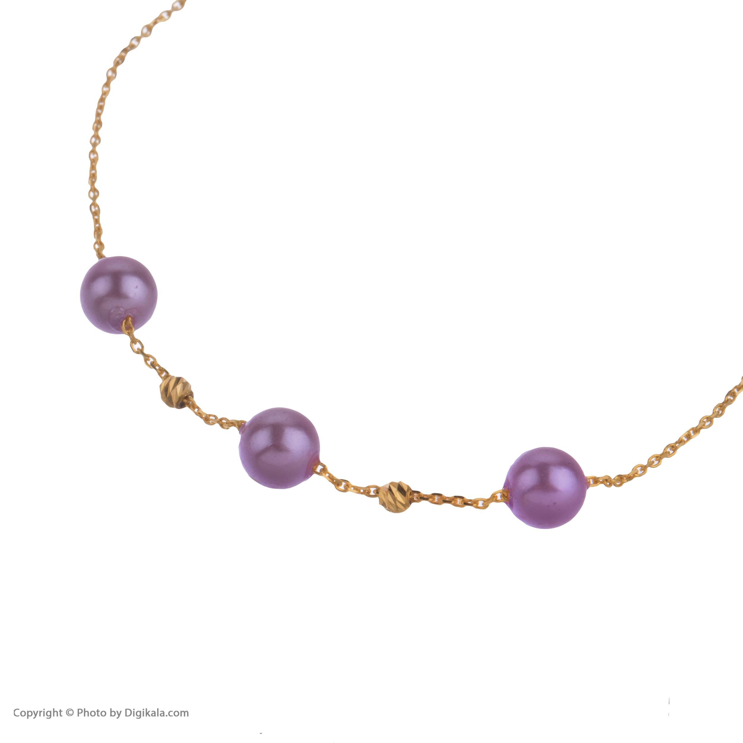 دستبند طلا 18 عیار زنانه مایا ماهک مدل ZMB1052 -  - 4