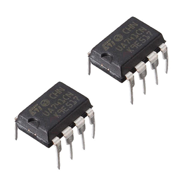 آی سی اس تی مایکروالکترونیکس مدل  UA741CN DIP بسته 2 عددی