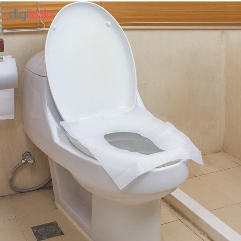 روکش یکبار مصرف توالت فرنگی مدل Toilet Cover - بسته 20 عددی main 1 2
