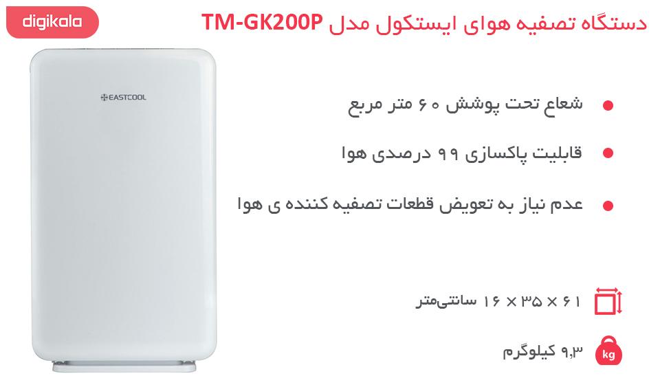 دستگاه تصفیه هوای ایستکول مدل TM-GK200P infographic