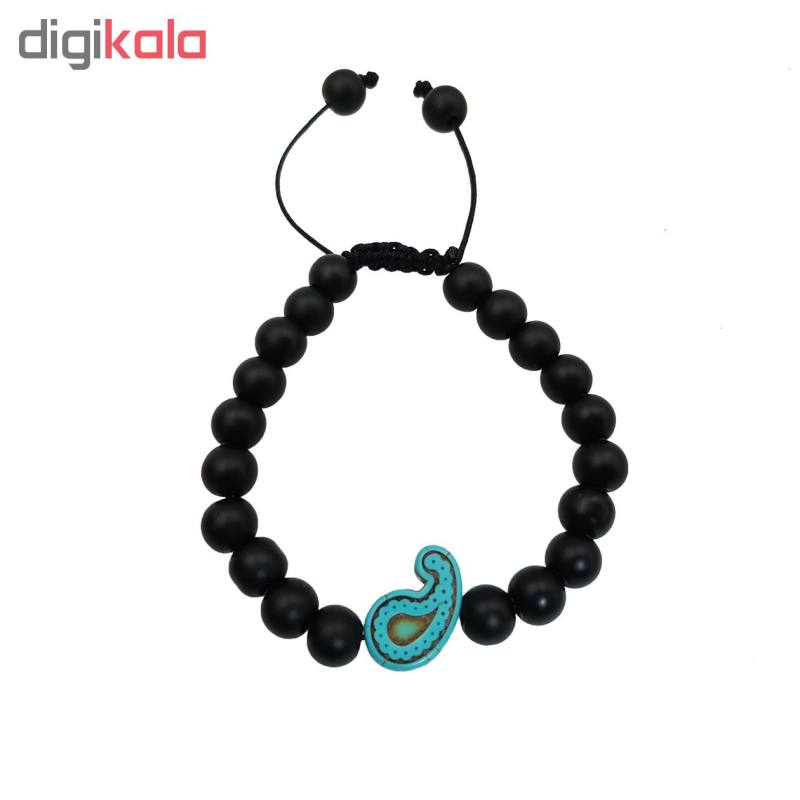دستبند طرح بته جقه کد Ag400