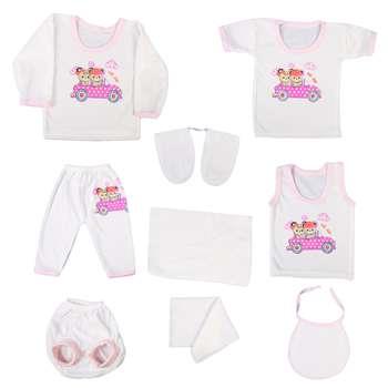 عکس ست 10 تکه لباس نوزادی کد 460  ست-10-تکه-لباس-نوزادی-کد-460