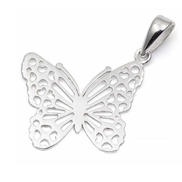 آویز گردنبند نقره ترمه مدل پروانه Termeh