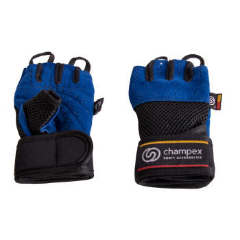 دستکش تمرین چمپکس مدل Gear Man Plus Ashbalt Blue
