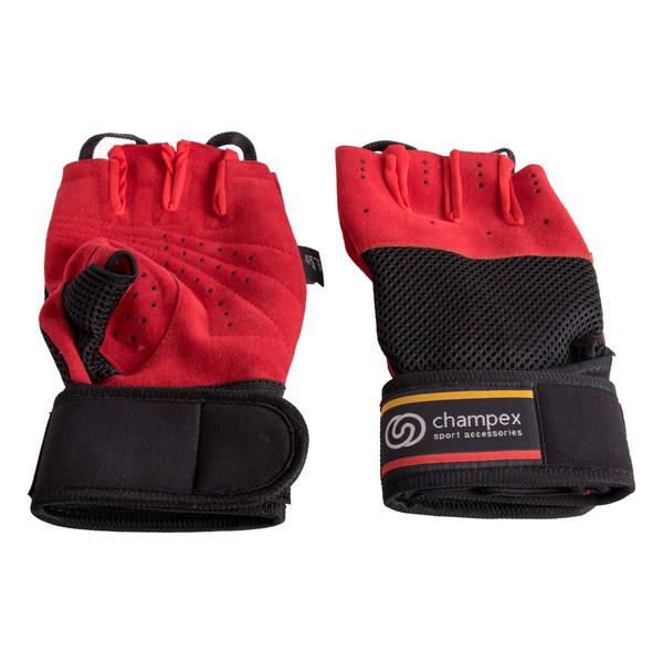 دستکش تمرین چمپکس مدل Gear Man Plus Ashbalt Red