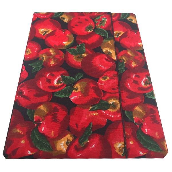 عکس رومیزی کتان مربعی 150 × 150 رزین تاژ طرح سیب