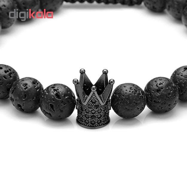 دستبند ذاریات مدل  King Black کد 106 مجموعه دو عددی
