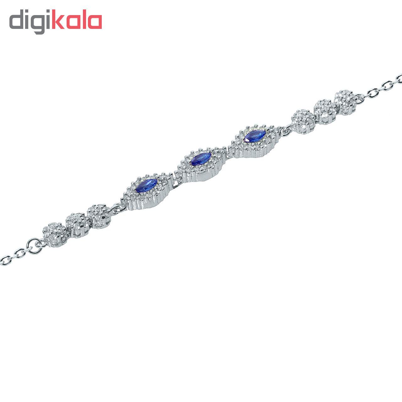 دستبند نقره اقلیمه کد DN339
