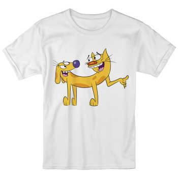 تی شرت بچگانه انارچاپ طرح گربه سگ مدل T09020 |