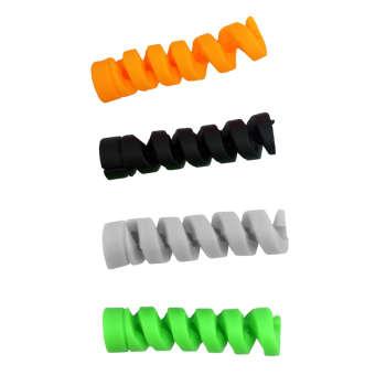 محافظ کابل سیلیکونی مدل P15 بسته چهار عددی