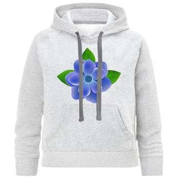 هودی دخترانه مدل گل آبی C54  