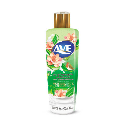 شامپو صورت و بدن کرمی اوه مدل Milk And Aloe Vera مقدار 400 گرم