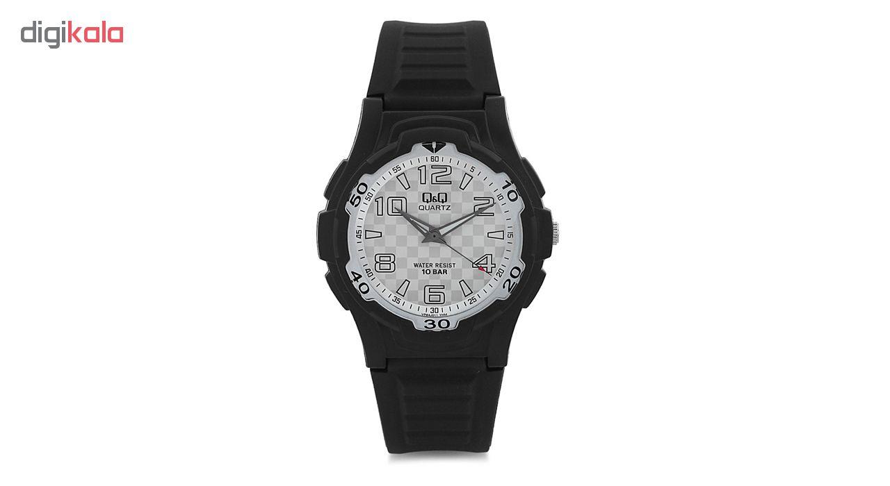خرید ساعت مچی عقربه ای مردانه کیو اند کیو مدل vp84j011y به همراه دستمال مخصوص برند کلین واچ