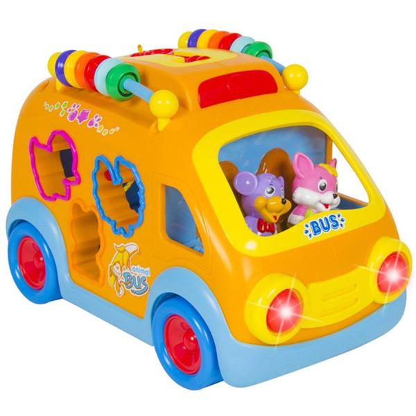 اسباب بازی آموزشی هولی تویز مدل Happy Bus کد H6 به همراه عروسک مافین