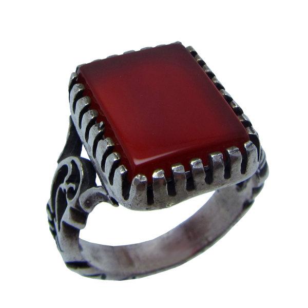 انگشتر نقره مردانه کد OP148