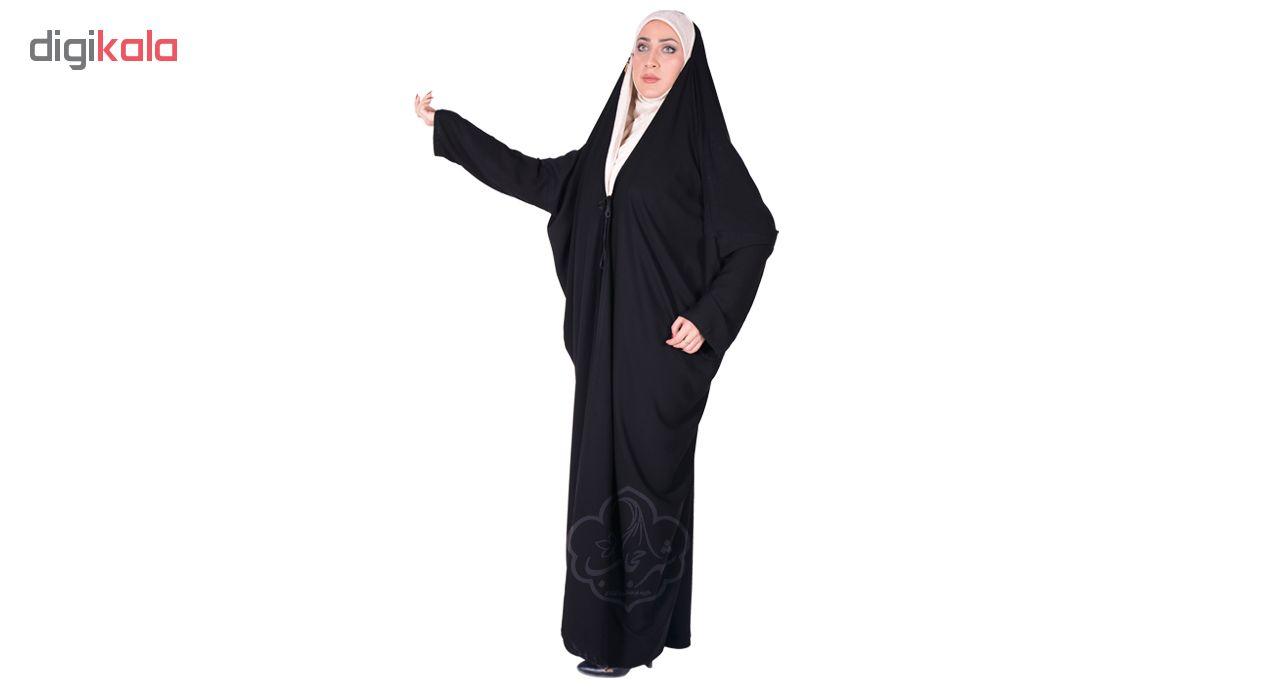 چادر اماراتی کرپ کریستال شهر حجاب مدل 8001