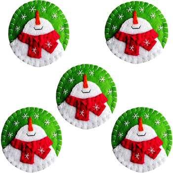 آویز درخت کریسمس هیاهو مدل ورسای  بسته 5 عددی