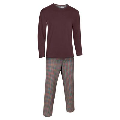 تصویر ست لباس راحتی و خواب مردانه ساروک مدل کشمیر رنگ قهوه ای