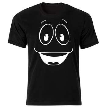 تی شرت آستین کوتاه مردانه طرح اموجی کد ۱۸۰۰۸ BW |