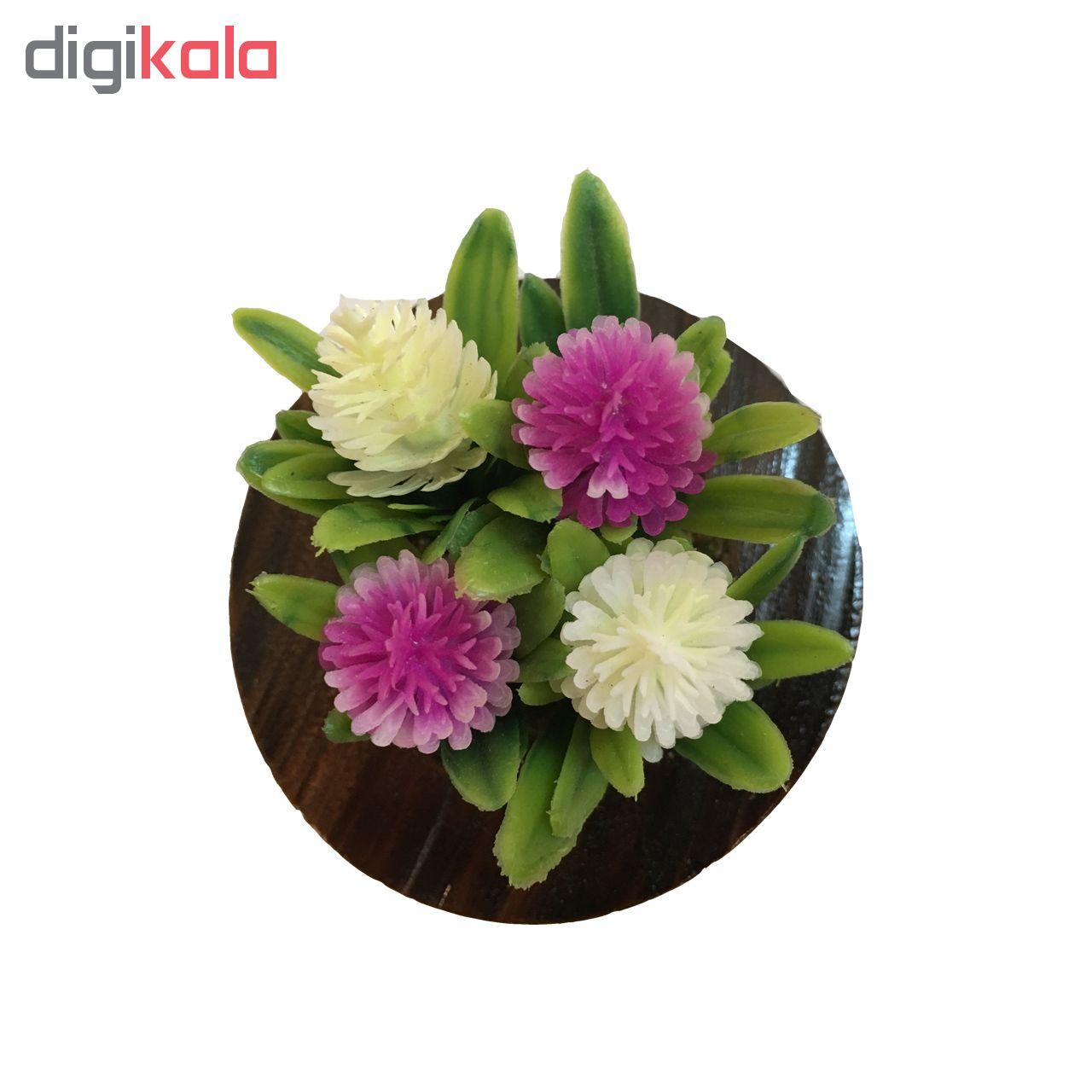 گلدان دکوری طرح شکوفه به همراه گل مصنوعی