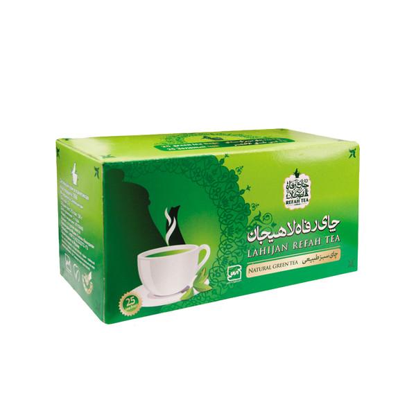 چای سبز کیسه ای رفاه لاهیجان بسته 20 عددی